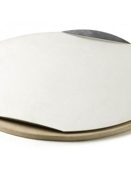 Pietra refrattaria O 36,5 cm rotonda per pizza per barbecue a carbone